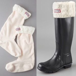 Hunter Tall Fleece Cable Knit Socks